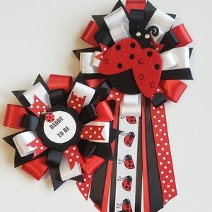 Small Ladybugs baby shower corsage